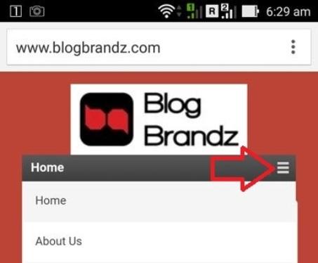 BlogBrandz Hamburger menu