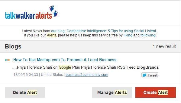 TalkWalker Alerts