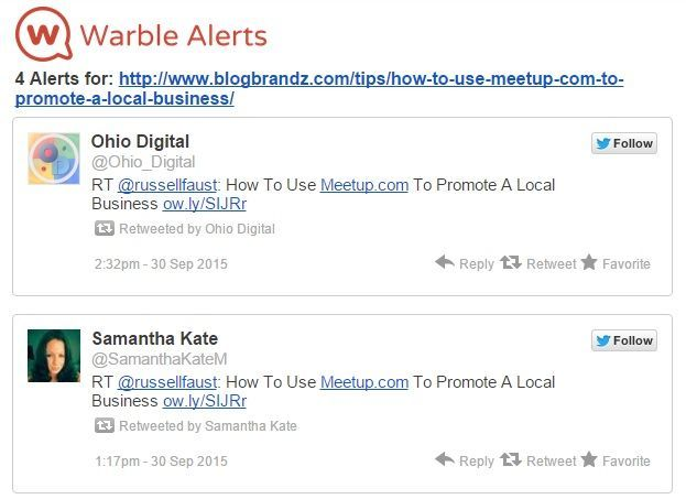 Warble Alert email