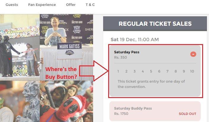 Comic Con Buy Button