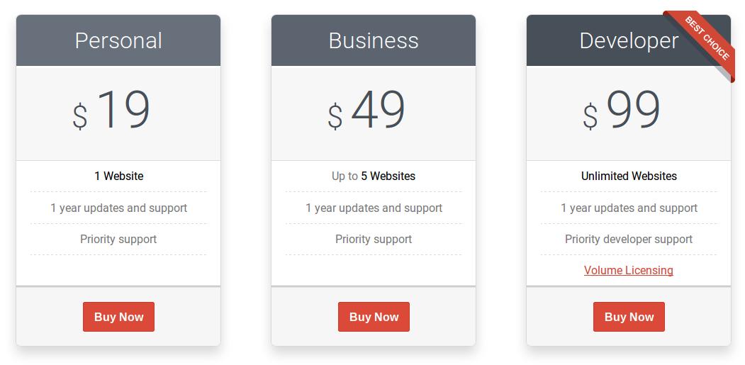 MotoPress Slider - Pricing