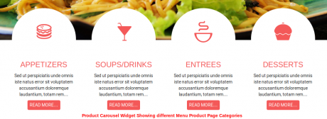 Cordon Bleu restaurant theme in wordpress - Product Carousel Widget