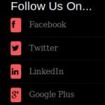 Cordon Bleu - Social Media Icons Widget