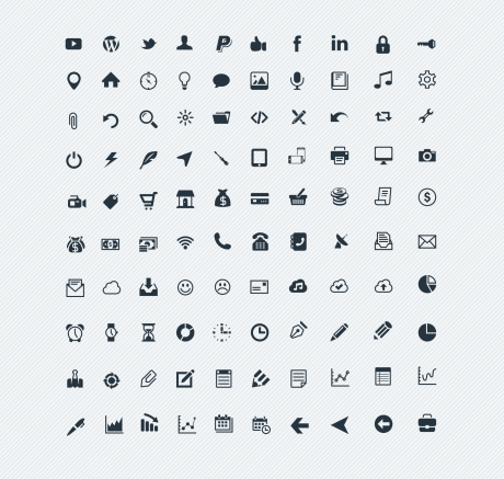100 Solid Vector icons