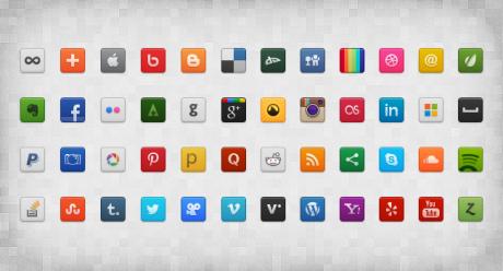 Socially active Icons