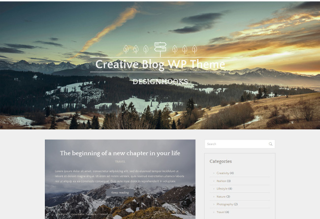 WP Theme for Bloggers - web design tools