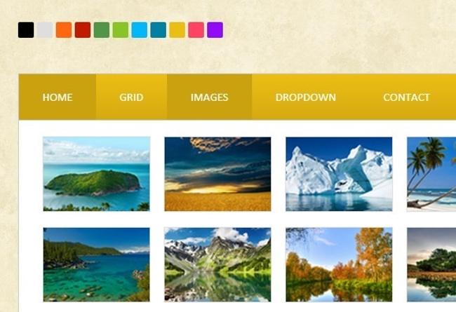 Responsive Mega Menu in CSS3 - web design tools
