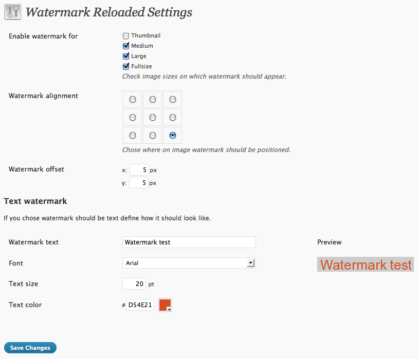 WordPress Image Optimization Watermarking Reloaded