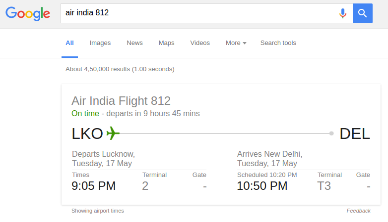 advanced google search tricks - Flight Search