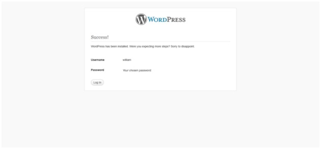 How to Install WordPress Enter Credentials