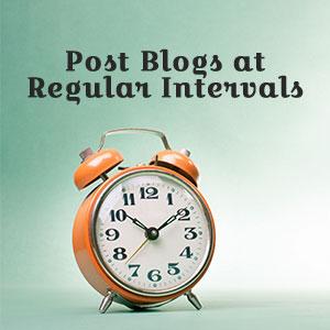 Post Blogs at Regular Intervals