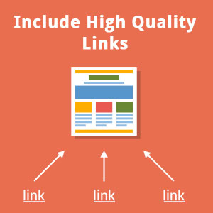 Include High Quality Links
