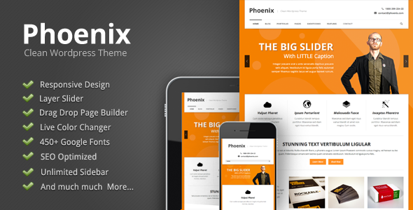 Best One Page WordPress Themes | Phoenix