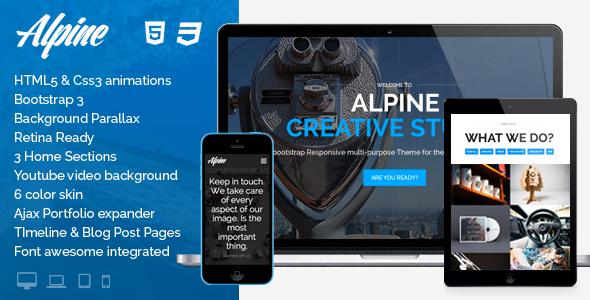 Best One Page WordPress Themes | Alpine
