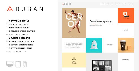 One Page WordPress Themes | Buran