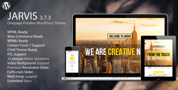 Best oe page WordPress themes | jarvis