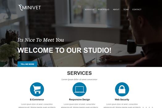 Best One Page WordPress Themes | Minivet