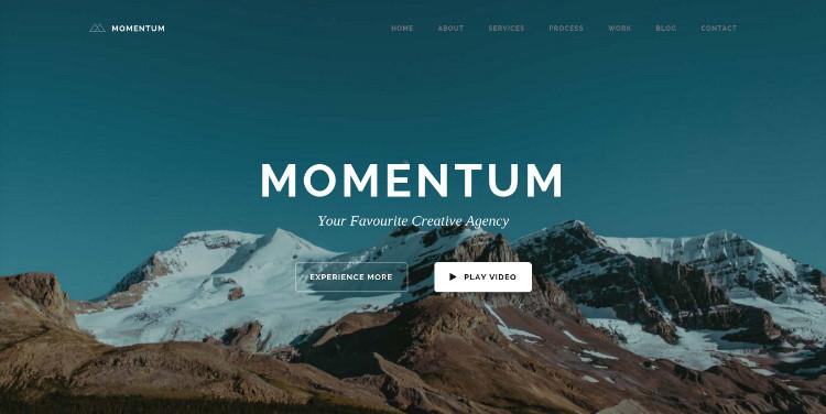 momentum one page wordpress theme