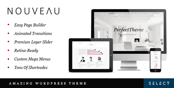 Best One Page WordPress Themes | Nouveau