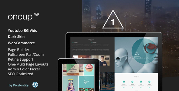 Best One Page WordPress Themes | OneUp