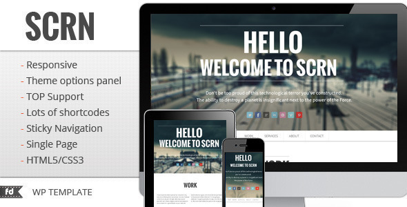Best onepage WordPress themes | SCRN