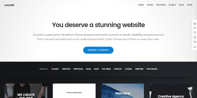 uncode-one-page-wordpress-theme