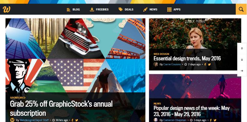 web designer depot sreenshot