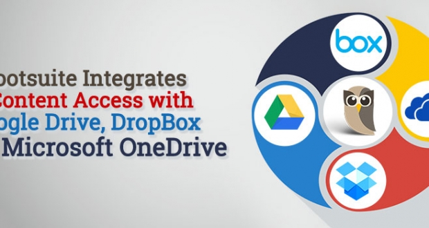 Hootsuite integrates with Dropbox, Google Drive