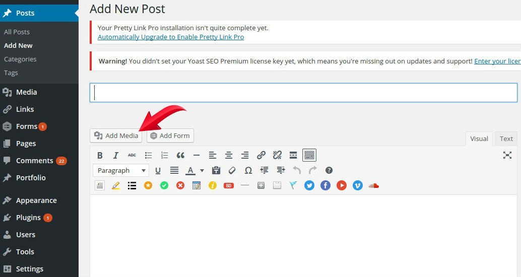how to add save button for edit profile in wordpress