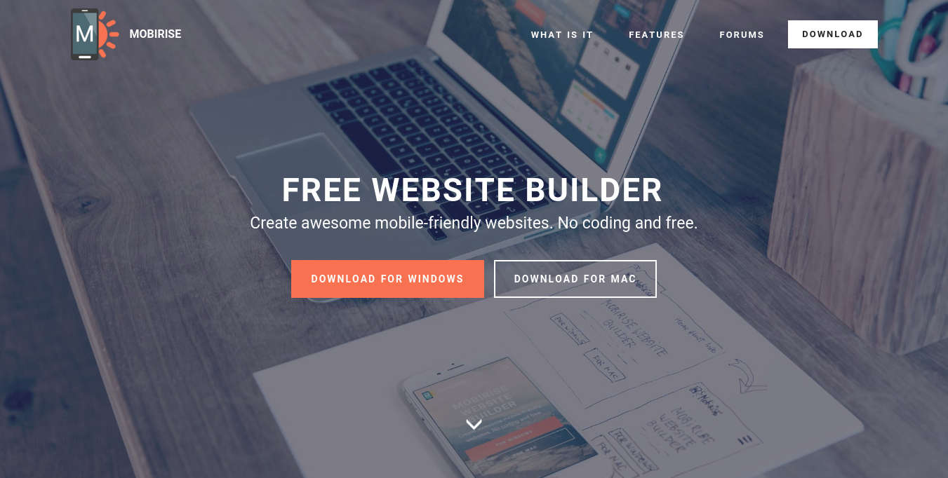 mobirise website builder