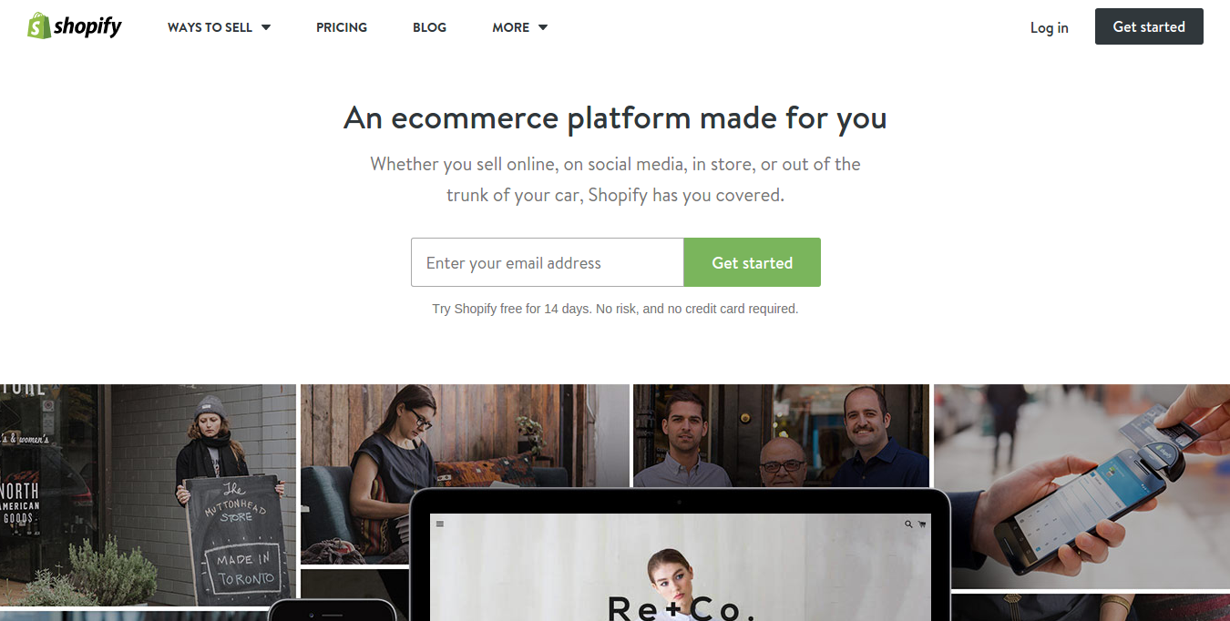 shopify website builder