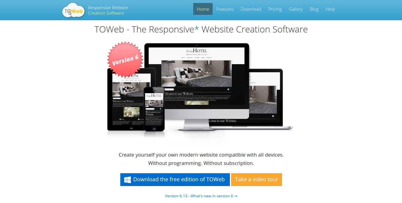toweb website builder