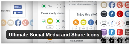 wordpress plugins that improve website usability - Ultimate Social Media and Share Icons
