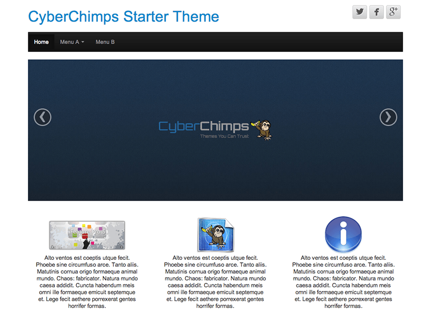 wordpress themes for content marketing - cyberchimps theme