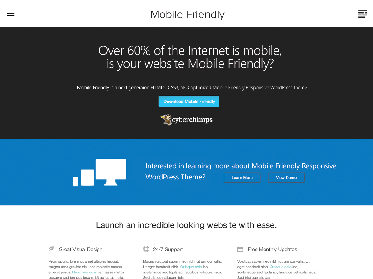 wordpress themes for content marketing - mobile friendly