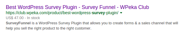 rich snippets google serp survey funnel