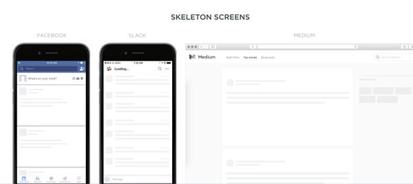 skeleton screens