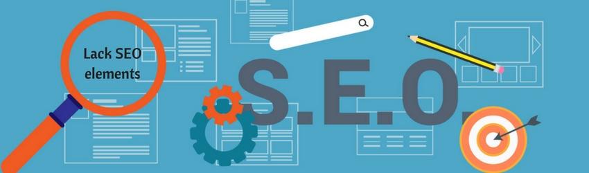 free website disadvantages - Lack SEO elements