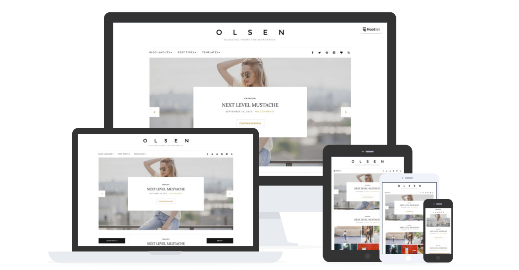 best personal blog wordpress themes - olsen