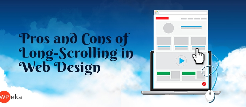 pros and cons of long scrolling web design