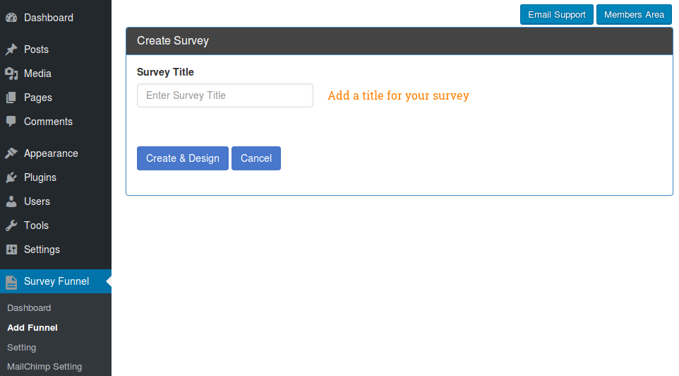 SurveyFunnel - Add Funnel