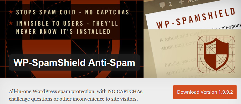 WP SpamShield Anti-Spam - free WordPress plugins