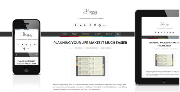 best personal blog wordpress themes - bloggy