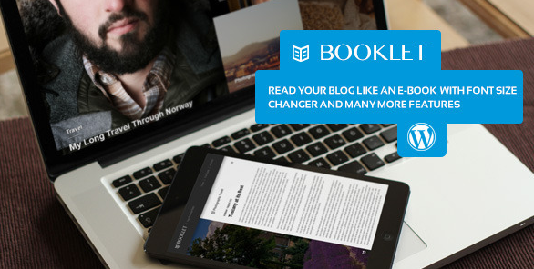best personal blog wordpress themes - booklet