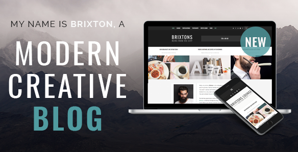 best personal blog wordpress themes - brixtony