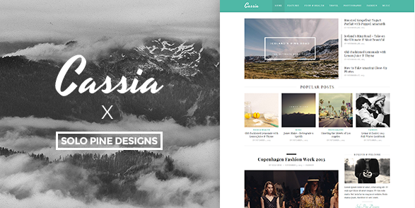 best personal blog wordpress themes - cassia