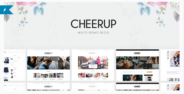 best personal blog wordpress themes - cheerup