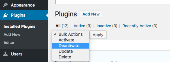 deactivation-of-plugin