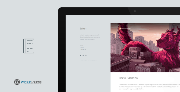 best personal blog wordpress themes - eston