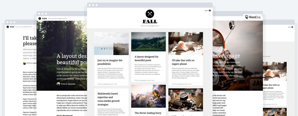 best personal blog wordpress themes - fall